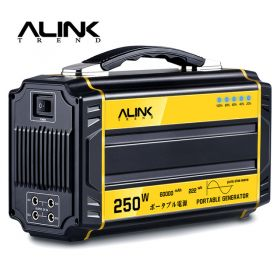 ALINK 250W Portable Generator Solar Power Inverter Camping 222Wh 60000mAh Rechargeable Battery with AC, DC,USB Port Power Supply