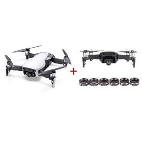 DJI Mavic Air Fly More Combo (Arctic White) with Sunnylife Camera Lens Filter